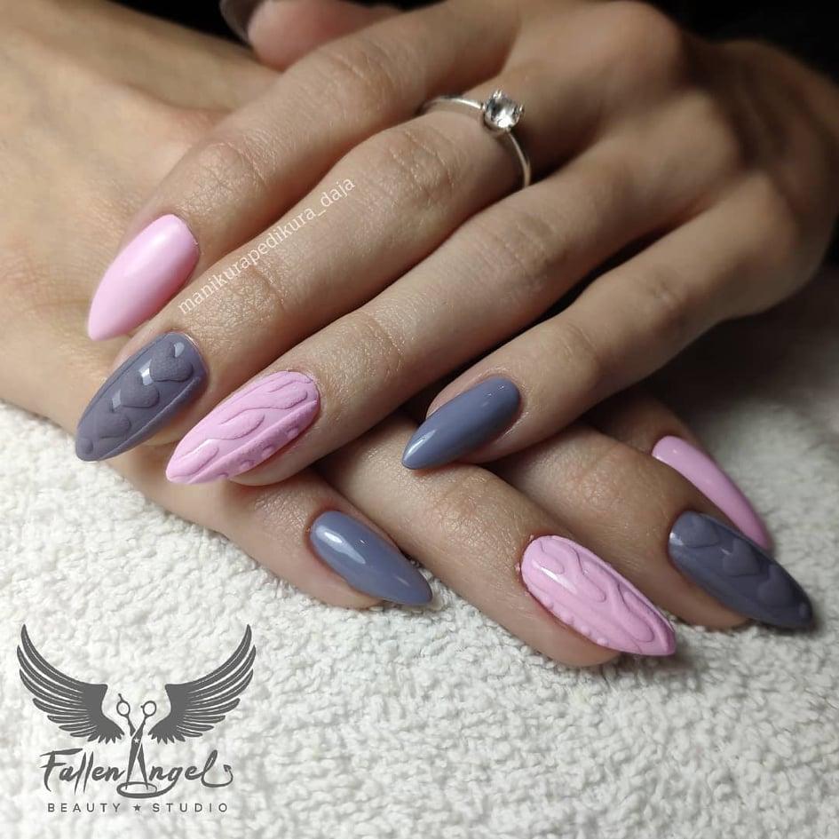 knit nails svetr nehty 1
